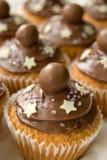 Schokoladen-Cup-Kuchen Stockfoto