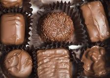 Schokoladen in den Verpackungen Stockfoto
