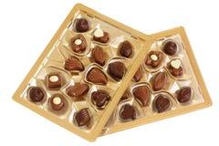 Schokoladen in einem Kasten Stockfotografie