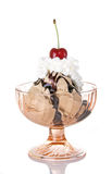 Schokoladen-Eiscremebecher Stockbilder
