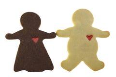 Schokoladen-Frau liebt pastenartiges Wh Lizenzfreie Stockfotografie