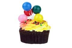 Schokoladen-Geburtstag-Kuchen Stockfotografie