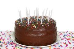 Schokoladen-Geburtstag-Kuchen Stockbilder