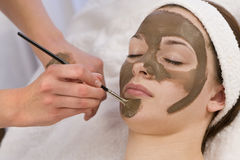 Schokoladen-Gesichtsmaske Stockfotografie