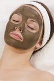 Schokoladen-Gesichtsmaske Stockbild