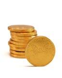 Schokoladen-Goldmünzen Lizenzfreies Stockfoto