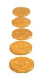 Schokoladen-Goldmünzen Lizenzfreie Stockbilder