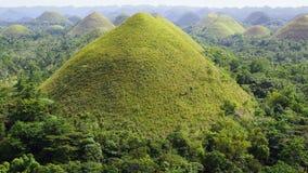 Schokoladen-Hügel, Bohol Insel, Philippinen Stockfotos