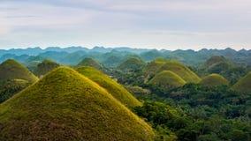 Schokoladen-Hügel in Bohol-Insel, philippinisch Stockfotografie