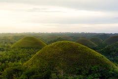 Schokoladen-Hügel in Bohol-Insel, philippinisch Lizenzfreies Stockfoto