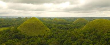 Schokoladen-Hügel in Bohol Philippinen Stockfotos