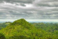 Schokoladen-Hügel in Bohol Philippinen Stockfoto