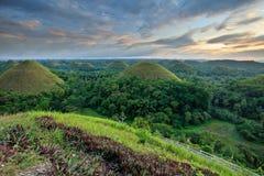 Schokoladen-Hügel in Bohol, Philippinen stockbild
