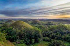 Schokoladen-Hügel der Philippinen Stockfotografie