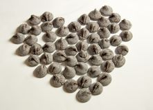Schokoladen-Inner-Kuss Lizenzfreies Stockfoto
