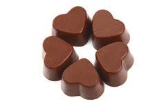 Schokoladen-Inneres Stockbilder