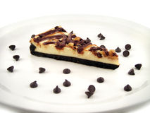 Schokoladen-Käsekuchen Lizenzfreie Stockfotos