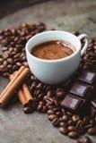 Schokoladen-Kaffee stockfotografie