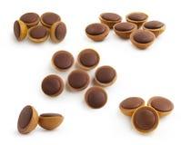 Schokoladen-Karamell-Set   Lizenzfreie Stockfotos