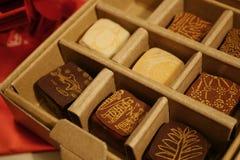 Schokoladen-Kasten stockbild