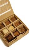 Schokoladen-Kasten stockfotos