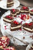 Schokoladen-Keks-Kuchen Lizenzfreies Stockfoto