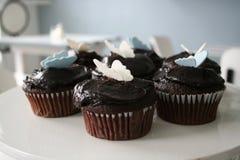 Schokoladen-kleine Kuchen Lizenzfreie Stockfotos