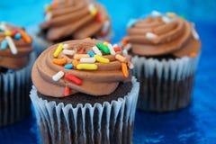 Schokoladen-kleine Kuchen Stockbilder