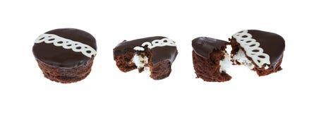 Schokoladen-kleine Kuchen Stockbild