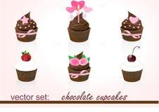 Schokoladen-kleiner Kuchen Stock Abbildung