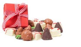Schokoladen, Konfektionsartikel, Geschenk stockfoto