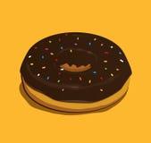 Schokoladen-Krapfen Lizenzfreies Stockfoto