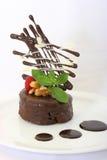 Schokoladen-Kuchen Stockbild