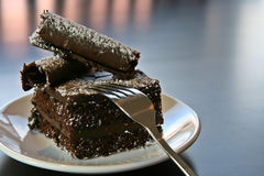 Schokoladen-Kuchen Lizenzfreie Stockfotos