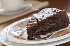 Schokoladen-Kuchen abd Kaffee Lizenzfreie Stockbilder