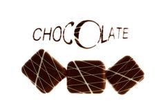 Schokoladen mit Text Lizenzfreies Stockbild