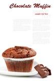 Schokoladen-Muffin Stockbild