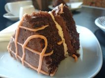 Schokoladen-orange Kuchen stockfotografie