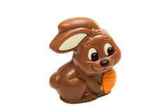Schokoladen-Osterhase lokalisiert Lizenzfreies Stockfoto