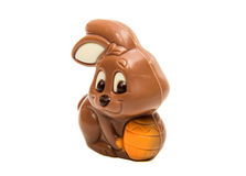 Schokoladen-Osterhase lokalisiert Lizenzfreies Stockbild