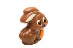 Schokoladen-Osterhase lokalisiert Stockbilder