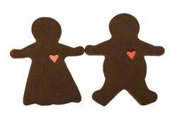 Schokoladen-Paare in der Liebe Lizenzfreie Stockbilder