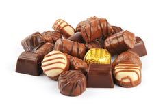 Schokoladen-Pralinen Lizenzfreie Stockfotos