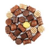 Schokoladen-Pralinen Stockfotografie