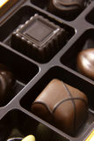 Schokoladen-quadratische Trüffeln Lizenzfreie Stockbilder