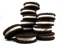 Schokoladen-Sandwich-Plätzchen Lizenzfreie Stockfotos