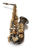 Schokoladen-Saxophon Lizenzfreie Stockfotos