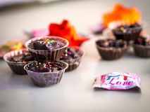 Schokoladen-Schale Stockfotografie