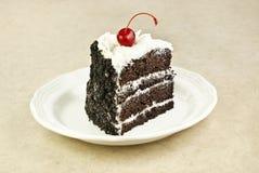 Schokoladen-Schicht-Kuchen Stockbild