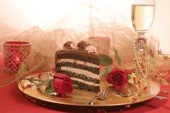 Schokoladen-Schicht-Kuchen Stockbilder
